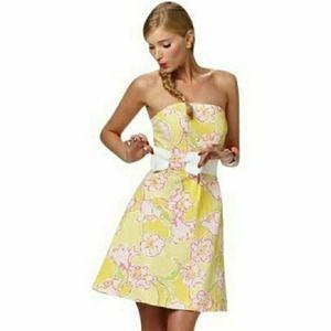 Lilly Pulitzer Amberly Strapless Dress sz 0